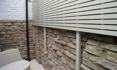 Face fixed painted slatted panels