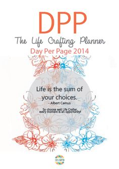 Day Per Page Planner Inserts for Filofax. Over 260 colourful pages for lists, planning and calendar scheduling! $80 plus cost price shipping at lifeiscrafted.com...  Life is Crafted, craft yours!