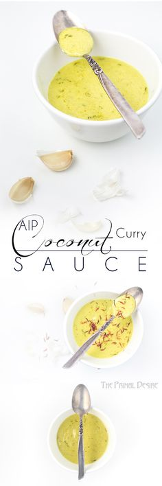 Coconut Curry Sauce is a great way to jazz up ANY dish. Chicken, lamb, pork, fish, vegetables, even try with eggs. And this is an AIP recipe! https://www.theprimaldesire.com/coconut-curry-sauce/