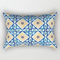 Seamless Tile Pattern Rectangular Pillow