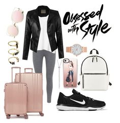 """Obsessed"" by piggychops on Polyvore featuring Mint Velvet, Gap, NIKE, French Connection, Aéropostale, Casetify, CalPak and Noir Jewelry"