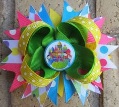 It's a Small World Disney Vacation Custom Boutique Hair Bow