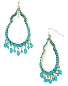 love turquoise jewelry, especially dangly earrings