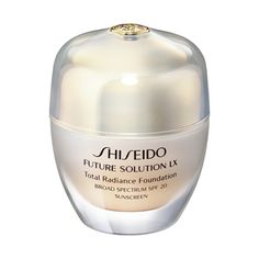 Shiseido's new Future Solution LX Total Radiance Foundation SPF20 is anti-aging skin perfecting amazing! Infinite #beauty #foundations #makeup #cosmetics #beautyinthebag