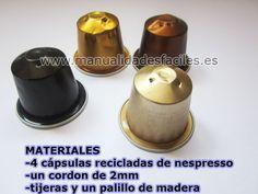 Collar realizado con cápsulas de Nespresso