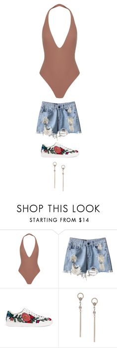 """Untitled #4047"" by twerkinonmaz ❤ liked on Polyvore featuring Alix, Gucci and Miss Selfridge"