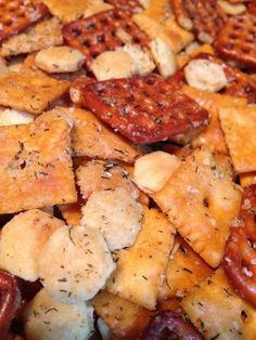 Enough with the Chex Mix! A homemade snack mix is a nice alternative to having bowls of pretzels, chips or a store bought snack mix sitting out at your party. It's just something a little different and it's so easy to make....and much cheaper! This recipe makes a good amount but it will keep well… http://rock.ly/kjyq6