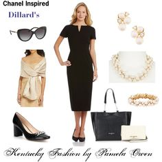 Chanel Inspired LBD from Dillard's by kentuckyfashion on Polyvore featuring Dillard