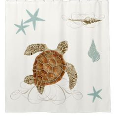 sea turtle shower curtains - Google Search