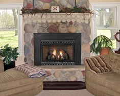 Empire Medium Innsbrook Vent-Free Gas Fireplace Insert with Built-In Thermostat Creative Decor, Fireplace Mantle, Gas, Free Gas, Hearth, Traditional Fireplace, Brick Fireplace, Gas Fireplace Insert, Fireplace