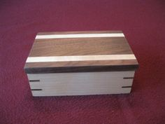 Wooden Box, Keepsake Box, Jewelry Box made from Maple and Walnut. #30 on Etsy, $35.00