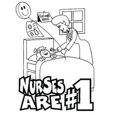 Top 25 Free Printable Nurse Coloring Pages Online
