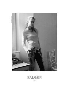 Nadja Bender Chills for Balmains Fall 2012 Campaign by David Sims