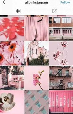 Click to view 20+ of The Hottest Instagram Feed Themes to Re-Create Yourself! | Pink Aesthetic Instagram Feed Layout, Pink Instagram, Instagram Design, Instagram Story, Best Vsco Filters, Photoshoot Concept, Pastel Roses, Pink Themes, Pink Aesthetic