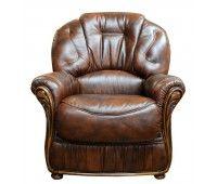 Poltrona in pelle, produzione artigianale made in Tuscany. Negozio di vendita online prodotti artigianali come divani e poltrone in pelle.