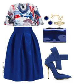 """""""Untitled #1214"""" by visionsbyjo on Polyvore featuring Kate Spade, Maison Margiela and Prabal Gurung"""