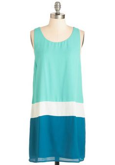 I Can Sea Clearly Now Dress. The rain is gone, the sun is shining, and youre clad for smooth sailing in this colorblocked dress.  #modcloth
