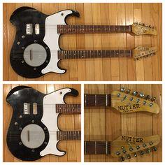 "Nutter Custom Guitars ""Monster"" Doubleneck Guitar/6 string Banjo"