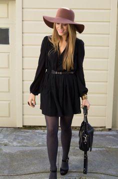 Black dress hat outfit