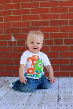 Monster 1st birthday shirt by Fit For A Prince.