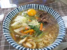 2013/01/19 Vegetables Ramen. 野菜ラーメン(肉&卵)