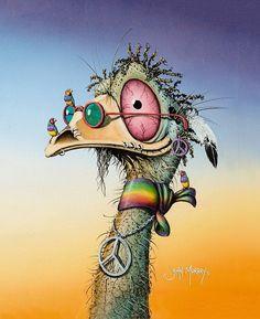 """The Rainbow Tribe"" iPad Case & Skin by johnmurrayart | Redbubble Creature Drawings, Bird Drawings, Cool Art Drawings, Colorful Drawings, Art Sketches, Funny Paintings, Happy Paintings, Animal Paintings, Crazy Bird"