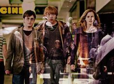 Harry Potter The Golden Trio Hermione, Saga, Golden Trio, Movies Quotes, No Muggles, Yer A Wizard Harry, Albus Dumbledore, Harry Potter Love, Mischief Managed