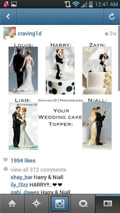 LOVE NIALLS!!! Whether I marry him or not... that is totally gonna be on my wedding cake lol
