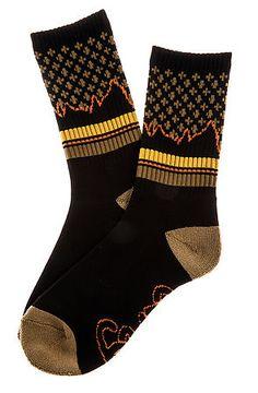 The LRG Wonderland Crew Socks in Black by LRG
