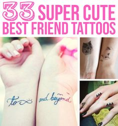 33 Super Cute Best Friend Tattoos, just incase I miraculously overcome the needle thing...@zwalders