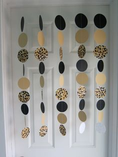 Leopard Garlands, Safari Party Decorations, Zoo Theme Party, Girls Night Out Decorations, Bachelorette, Graduation Decorations. $22.00, via Etsy.