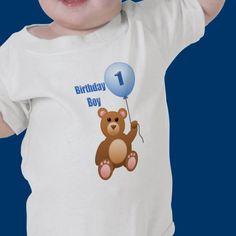 #first #birthday #boy #shirt from #zazzle  cute little Teddy Bear  $16.35