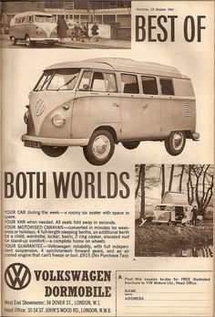 Volkswagen Dormobile T1 Split Screen Kombi Advert 1962 by Trigger's Retro Road Tests!