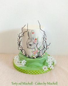 Hand painted easter cake … With wafer paper flowers … https://www.facebook.com/pg/TortyodMischell
