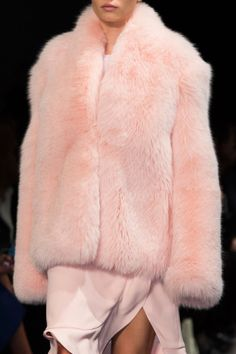 amazing pink fur coat