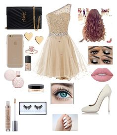 """""""Prom with him❤️"""" by addymarsh on Polyvore featuring Dsquared2, Yves Saint Laurent, Agent 18, Lipsy, NARS Cosmetics, Lime Crime, MAC Cosmetics and Huda Beauty"""