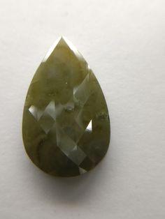 Natural pear rose cut diamond