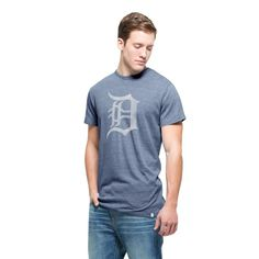 Detroit Tigers '47 Tri-Blend State T-Shirt - Navy