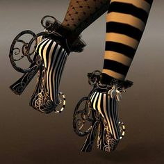 These look like Alice in Wonderland shoes!