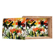 Ginette Fine Art Modern Peach Roses Jewelry Box | DENY Designs Home Accessories