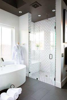 Top 60 Best Master Bathroom Ideas - Home Interior Designs Shower Remodel, Remodel Bathroom, Restroom Remodel, Minimalist Bathroom, Amazing Bathrooms, White Bathrooms, Bathroom Small, Master Bathrooms, Attic Bathroom