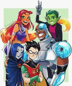 Teen Titans by GretluskyYou can find Teen titans and more on our website.Teen Titans by Gretlusky Teen Titans Raven, Teen Titans Starfire, Teen Titans Fanart, Titans Anime, Teen Titans Cyborg, Robin From Teen Titans, Teen Titans Characters, The New Teen Titans, Cartoon Shows