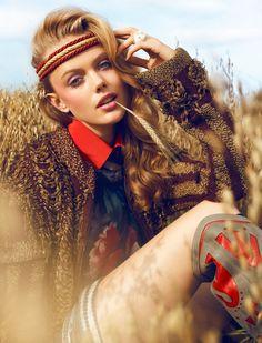 Frida Gustavsson by Magnus Magnusson for Elle Sweden, November 2010, #Inspiration #Fashion #Photography