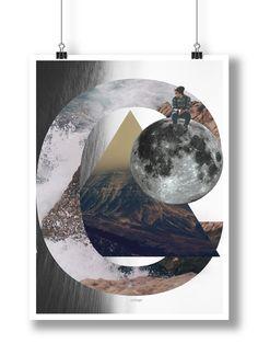 Tânia Frade — Poster 'Collage'; 2014. #alquimiadacor #designeproduçãográfica #culturagráfica #visualculture #poster #designgráfico #graphicdesign #colagem #collage