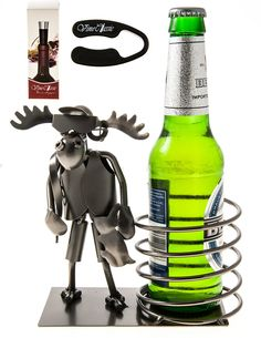 Fabulous Moose Hunter Beer Bottle Holder Presenter Plus Wine Foil Cutter and a Wine Bottle Vacuum Stopper -- See this great image  : Kitchen Utensils and Gadgets
