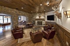 designed by Sabo Design Associates-we like the floor color.  Dan calls this a man cave.