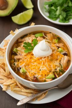 Really nice recipes. Every hour. — Slow Cooker Chicken Tortilla Soup Really nice. Slow Cooker Huhn, Slow Cooker Soup, Slow Cooker Chicken, Slow Cooker Recipes, Crockpot Recipes, Soup Recipes, Chicken Recipes, Cooking Recipes, Healthy Recipes