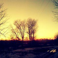 Farm sunsets burn so bright <3 #familyfarm #stillgrowing #sunsetview