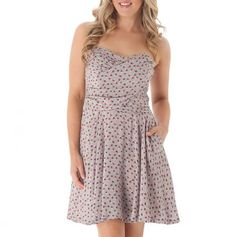 Sweetheart Strapless Dress with Pockets
