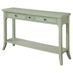 Stylish Three Drawer Console Table - Burnished Green - Christopher Knight Home
